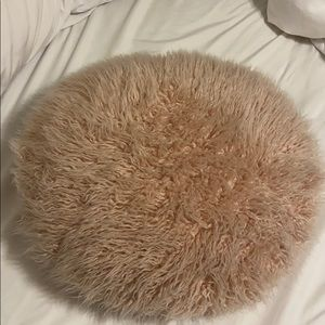 Blush fuzzy and velvet pillow!